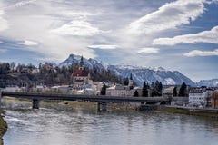 萨尔茨堡奥地利阿尔卑斯自然ladscape山 图库摄影