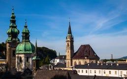 萨尔茨堡屋顶 库存照片