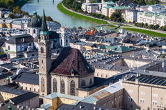 萨尔茨堡屋顶 免版税库存图片