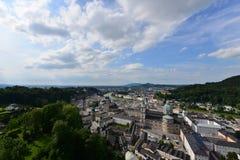 萨尔茨堡市看法  库存图片