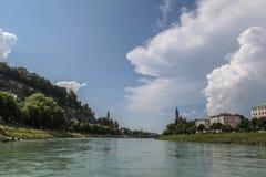 萨尔茨堡河 免版税库存图片