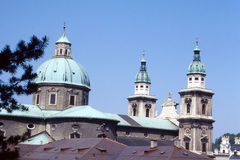 萨尔茨堡视图 免版税库存照片