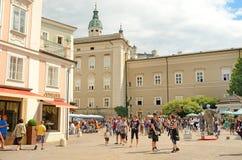 萨尔茨堡,奥地利。 免版税库存图片