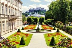 萨尔茨堡,奥地利庭院  免版税图库摄影