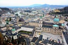 萨尔茨堡,奥地利概要 库存图片