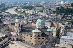 萨尔茨堡,奥地利都市风景  免版税库存照片
