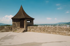 萨尔茨堡,奥地利,欧洲鸟瞰图  免版税库存图片