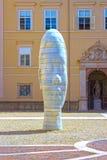 萨尔茨堡,奥地利- 2017年5月01日:市萨尔茨堡,头的雕塑的老部分 免版税图库摄影