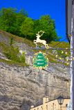 萨尔茨堡,奥地利- 2017年5月01日:老旅馆在萨尔茨堡,奥地利 免版税库存图片