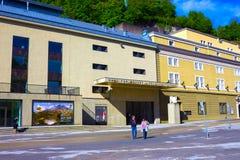 萨尔茨堡,奥地利- 2017年5月01日:萨尔茨堡大学门面在奥地利 图库摄影