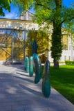 萨尔茨堡,奥地利- 2017年5月01日:萨尔茨堡大学门面在奥地利 免版税图库摄影