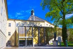 萨尔茨堡,奥地利- 2017年5月01日:萨尔茨堡大学门面在奥地利 免版税库存图片