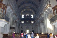 萨尔茨堡,奥地利- 2017年5月01日:萨尔茨堡主教座堂内部-细节 库存图片