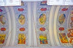 萨尔茨堡,奥地利- 2017年5月01日:萨尔茨堡主教座堂内部-细节 免版税图库摄影