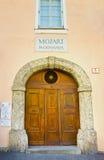 萨尔茨堡,奥地利- 2017年5月01日:著名作曲家沃尔夫冈・阿马德乌・莫扎特的莫扎特Wohnhaus住宅房子 图库摄影