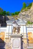 萨尔茨堡,奥地利- 2017年5月01日:赫伯特・冯Karajan的普拉茨饮马池在萨尔茨堡,奥地利 免版税库存图片