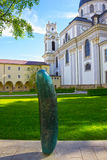 萨尔茨堡,奥地利- 2017年5月01日:巴洛克式的牧师会主持的教堂在萨尔茨堡是大学教会 免版税库存图片