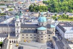 萨尔茨堡 市政的横向 库存照片