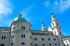 萨尔茨堡主教座堂外部  免版税库存照片