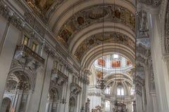 萨尔茨堡主教座堂-奥地利 免版税库存照片