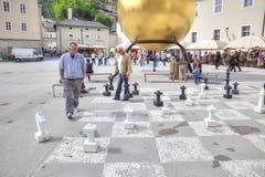 萨尔茨堡 盛大棋枰 图库摄影