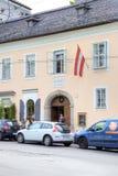 萨尔茨堡 莫扎特家博物馆  免版税库存照片