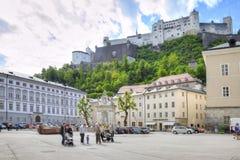 萨尔茨堡 都市的横向 库存图片