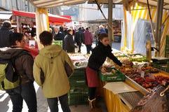 萨尔茨堡` s圣诞节市场 免版税库存照片