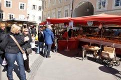 萨尔茨堡` s圣诞节市场 库存照片
