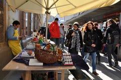 萨尔茨堡` s圣诞节市场 免版税库存图片