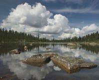 萨彦岭美丽的景色  免版税库存图片