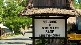 萨德市村庄在龙目岛海岛 股票录像