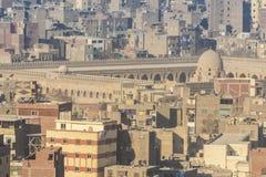 从萨拉丁城堡开罗看的伊斯兰教的处所,埃及 库存照片