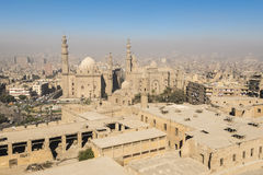 从萨拉丁城堡看见的开罗街市(埃及) 图库摄影
