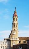 萨拉戈萨耶稣救主主教座堂,萨瓦格萨,西班牙 免版税库存图片