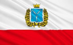 萨拉托夫州,俄罗斯联邦旗子  库存例证