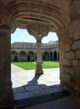 萨拉曼卡大学的学校庭院,西班牙 库存图片
