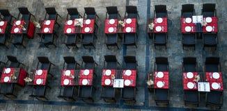 萨拉曼卡街道晚餐 库存图片