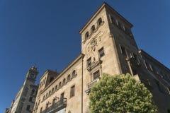 萨拉曼卡西班牙:历史建筑 图库摄影