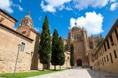萨拉曼卡,西班牙新的大教堂  免版税库存照片