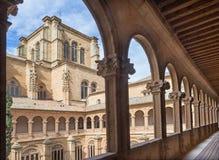 萨拉曼卡,西班牙, 2016年4月- 17日:Colegio Arzobispo丰塞卡湾新生巴洛克式的心房  免版税库存图片