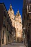萨拉曼卡,西班牙, 2016年4月- 16日:巴洛克式的门La Clerecia -罗马教皇大学 免版税库存图片