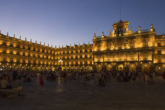 萨拉曼卡-广场少校-西班牙 免版税库存照片