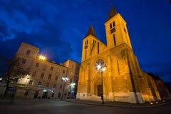 萨拉热窝大教堂 图库摄影