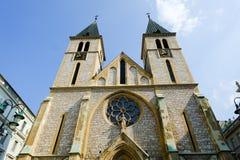 萨拉热窝大教堂 免版税图库摄影