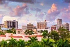 萨拉索塔佛罗里达地平线 免版税库存照片
