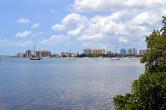 萨拉索塔海湾在佛罗里达 免版税库存照片
