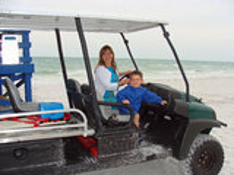 萨拉索塔海滩佛罗里达 免版税图库摄影