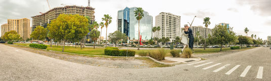 萨拉索塔,佛罗里达- 2016年2月:Uncondition全景  库存图片