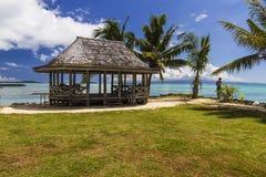 萨摩亚海滩Fale 免版税库存图片
